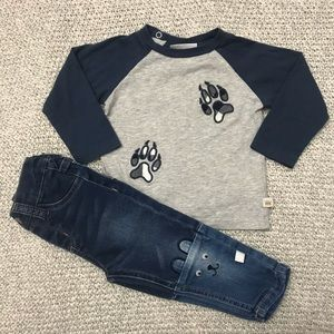 Rosie Pope Long Sleeve Top and Jeans Baby Outfit